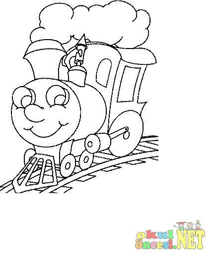 Tren Boyama Sayfalari Okul Oncesi Okul Oncesi Etkinlikleri