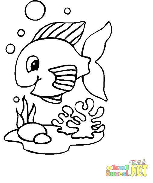 Balık Boyama Sayfaları Okul öncesi Okul öncesi Etkinlikleri