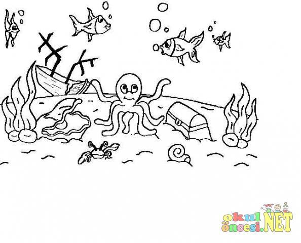 【Ücretsiz indirin】 Okul öncesi Deniz Boyama