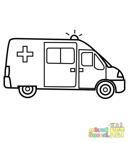 Ambulans Boyama Okul Oncesi Okul Oncesi Etkinlikleri Ana Okulu