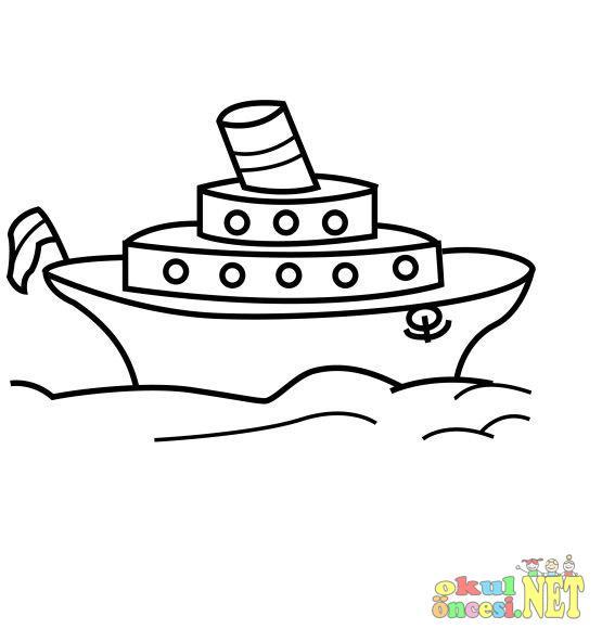 Gemi Boyama Okul Oncesi Okul Oncesi Etkinlikleri Ana Okulu