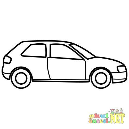 Araba Boyama Sayfaları Okul öncesi Okul öncesi Etkinlikleri