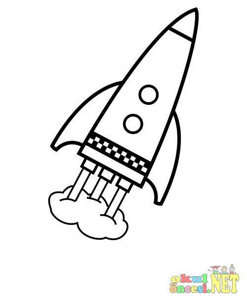 Uzay Araci Boyama Okul Oncesi Okul Oncesi Etkinlikleri Ana Okulu