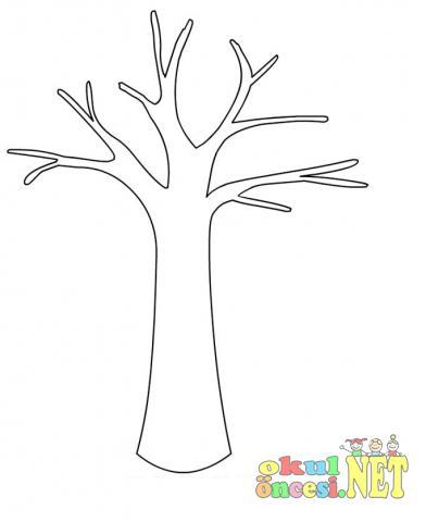 Taze Sonbahar Ağaç Boyama Resim Boyama