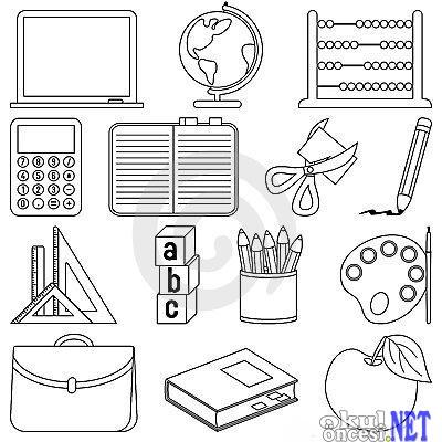 Okulda Kullandığımız Eşyalar Okul öncesi Okul öncesi