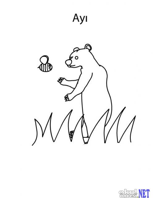 【Buraya Al】 Okul öncesi Hayvanlar Boyama