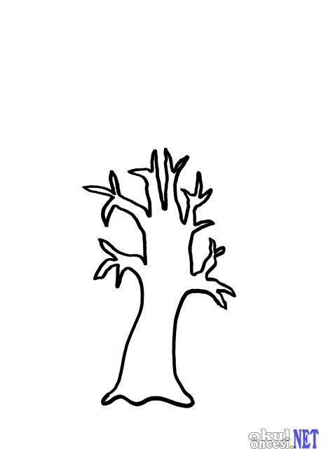 Parmak Baskısı Ile Sonbahar Ağacı Kalıplı Okul öncesi Okul