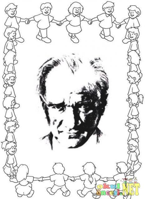 Atatürk Ile Ilgili Boyama Sayfaları Okul öncesi Okul öncesi