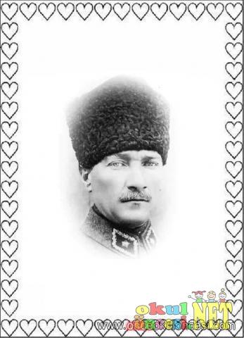 Atatürk Ile Ilgili Boyama Sayfaları Okul öncesi Okul