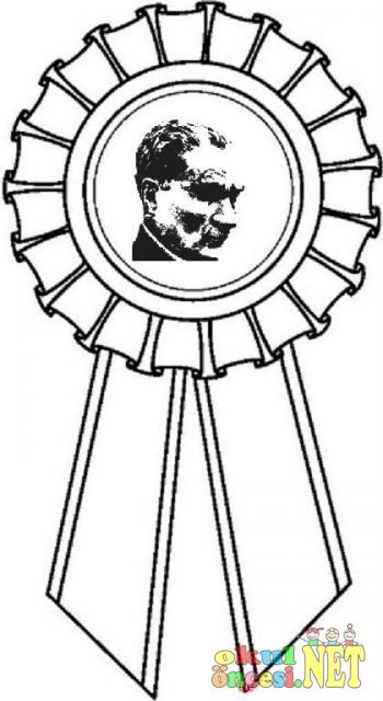 10 Kasımda Kullanılabilecek Atatürk Rozetleri Okul öncesi Okul