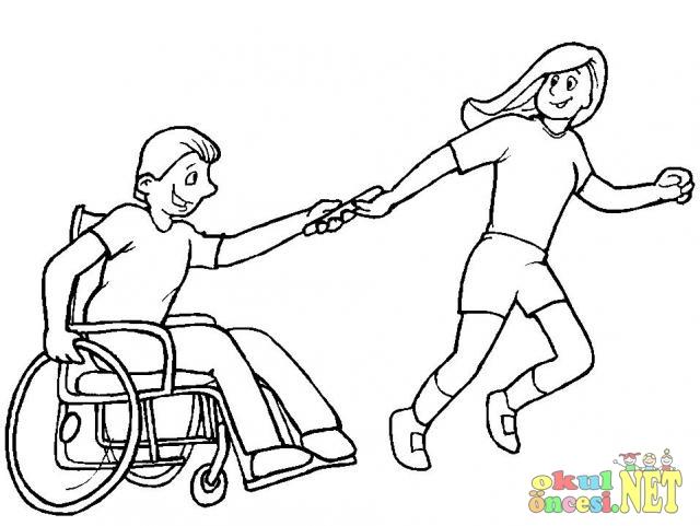 Tekerlekli Sandalye Kullanan Engelliler Okul öncesi Okul öncesi