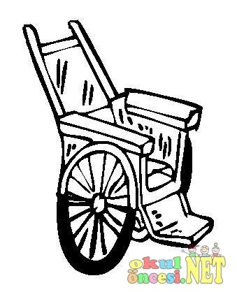 Tekerlekli Sandalye Boyama Okul öncesi Okul öncesi Etkinlikleri