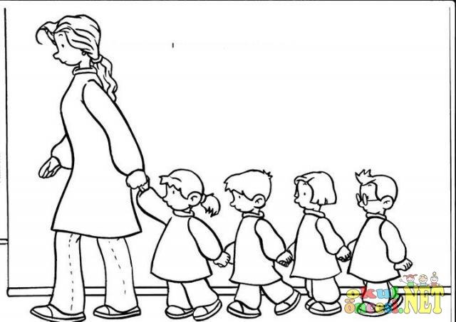 Sorumluluk Ve Okul Kuralları Ile Ilgili Boyama Sayfaları Okul