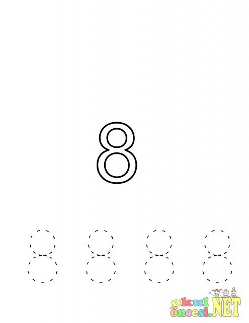 8 Rakamı Ile Ilgili çalışma Sayfaları Okul öncesi Okul öncesi