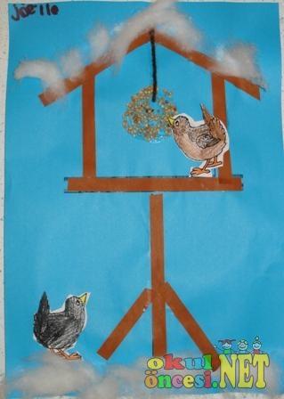 Artık Materyallerle S 252 Slenmiş Kuş Yuvası Kalıplı Okul