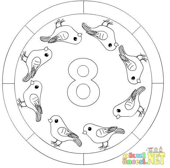 Sayılar Mandala 1den 10a Kadar Okul öncesi Okul öncesi