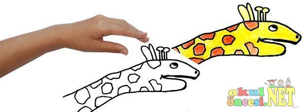 El Baskısı Zürafa Okul öncesi Okul öncesi Etkinlikleri Ana Okulu