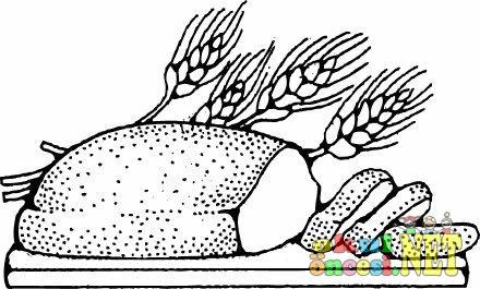Buğday Ekmeği Boyama Okul öncesi Okul öncesi Etkinlikleri Ana