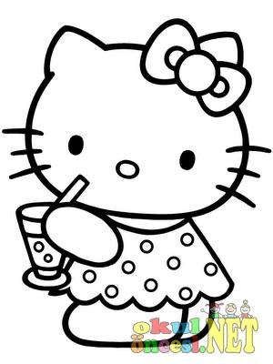 Hello Kitty Boyama Okul Oncesi Okul Oncesi Etkinlikleri Ana