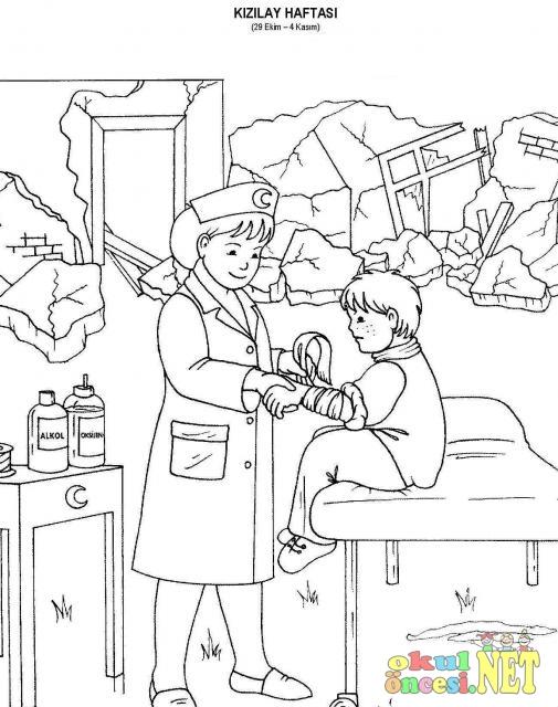 Kızılay Haftası Boyama Okul öncesi Okul öncesi Etkinlikleri