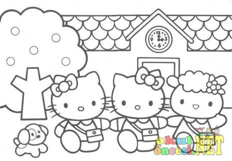 Hello Kitty Ve Arkadaslari Okul Oncesi Okul Oncesi