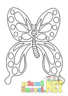 Kelebek Boyama Sayfaları Okul öncesi Okul öncesi Etkinlikleri