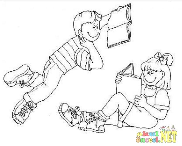 çocuk Kitapları Haftası Için Boyama Sayfaları Okul öncesi Okul