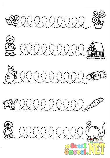 çok çeşitli çizgi çalışmaları Okul öncesi Okul öncesi