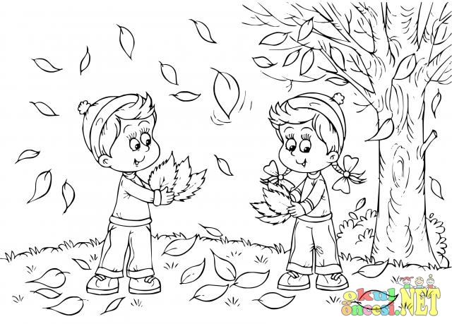 Sevimli Sonbahar Boyamaları Okul öncesi Okul öncesi Etkinlikleri