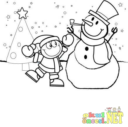 Sevimli Kış Boyamaları Okul öncesi Okul öncesi Etkinlikleri