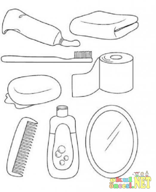 Temizlik Araçlarını Boyama Okul öncesi Okul öncesi Etkinlikleri
