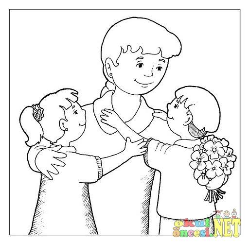 Anneler Günü Için Boyamalar Okul öncesi Okul öncesi Etkinlikleri