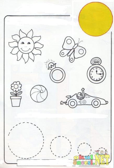 Geometrik Sekiller Calisma Sayfalari Okul Oncesi Okul Oncesi
