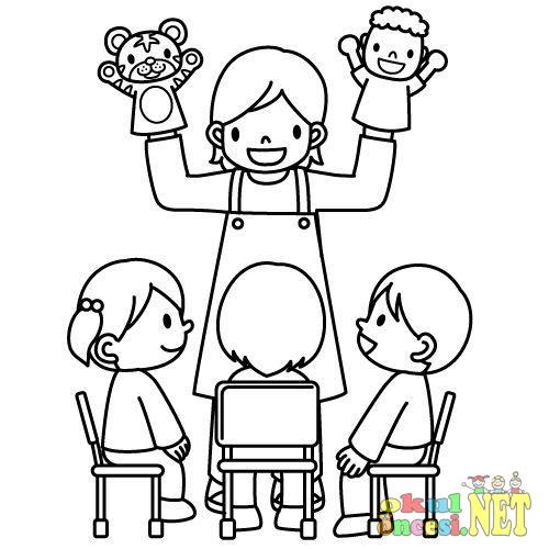 öğretmenler Günü Tebrik Kartı Ve Boyama Sayfaları Okul öncesi