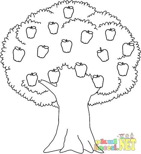 Ağaç Resmi Boyama Okul öncesi