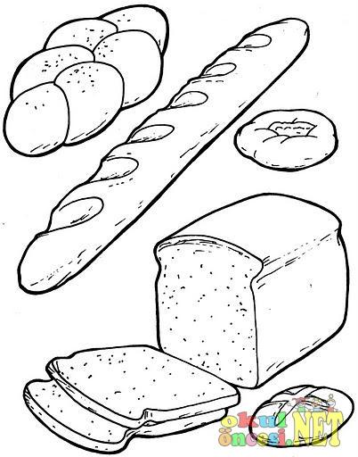 Kahvaltıda Yediklerimiz Boyamaları Okul öncesi Okul öncesi