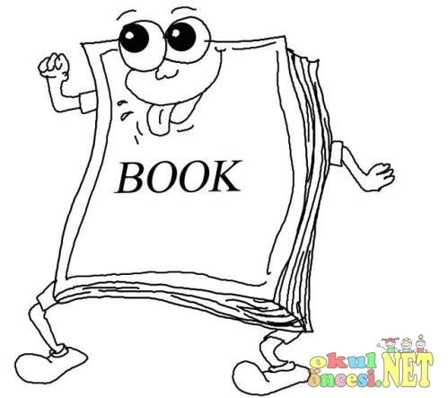Kitap Ve Defter Boyama Sayfası Mutlu Ifadeli Okul öncesi