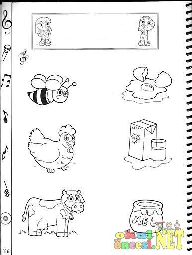 Hayvanlardan Elde Edilen ürünleri Eşleştirme Okul öncesi Okul