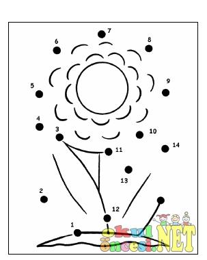 çiçek Sayı Birleştirme Okul öncesi Okul öncesi Etkinlikleri