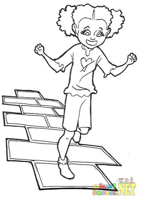 çocuk Oyunları Boyama Sayfaları Okul öncesi Okul öncesi