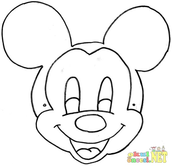 Miki Mini Fare Maskesi Okul öncesi Okul öncesi Etkinlikleri
