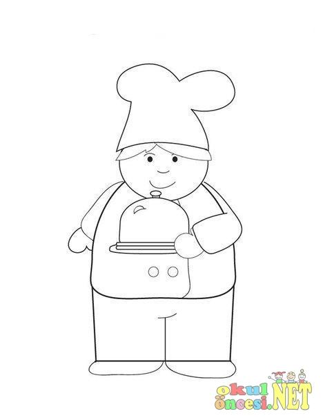 Aşçı Boyamaları Okul öncesi Okul öncesi Etkinlikleri Ana Okulu