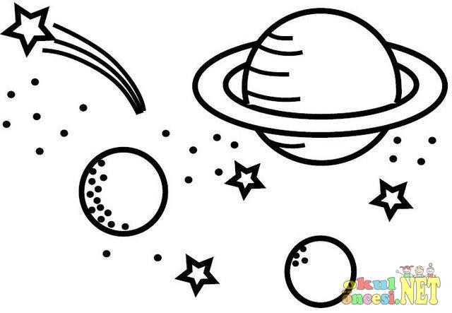 Dünya Uzay Gökyüzü Boyamaları Okul öncesi Okul öncesi