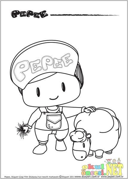 Pepe Boyama Sayfaları Okul öncesi Okul öncesi Etkinlikleri Ana