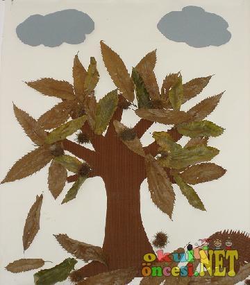 Yapraklarla Sonbahar Ağacı Okul öncesi Okul öncesi Etkinlikleri