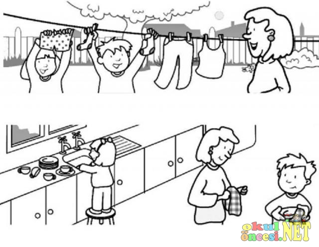 Yardımlaşma Ve Işbirliği Konulu Boyamalar Okul öncesi Okul