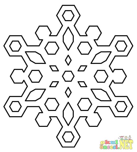 Kar Taneleri Boyama Sayfaları 1 Okul öncesi Okul öncesi