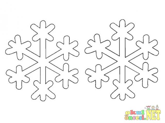 Kar Taneleri Boyama Sayfaları 2 Okul öncesi Okul öncesi