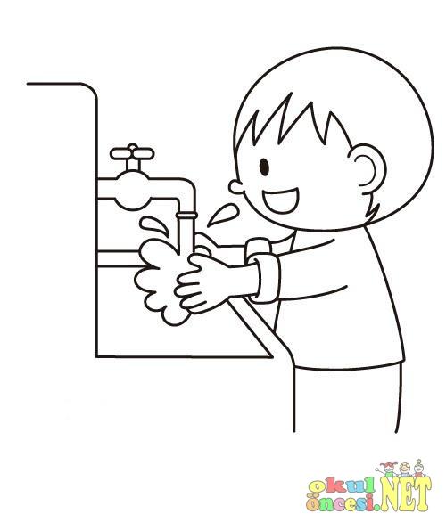 Temizlik Ile Ilgili Boyamalar Okul öncesi Okul öncesi