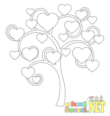 Sevgi Ağacı Boyama Okul öncesi Okul öncesi Etkinlikleri Ana